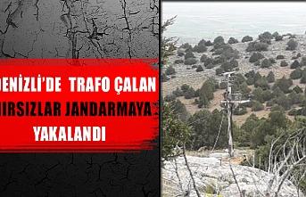 Denizli'de trafo çalan hırsızlar jandarmaya yakalandı