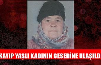 Kayıp yaşlı kadının cesedine ulaşıldı
