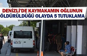 Denizli'de kaymakamın oğlunun öldürüldüğü olayda 5 tutuklama