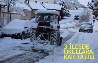 3 ilçede okullara kar tatili