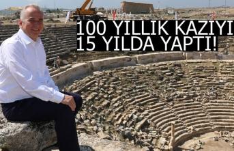 100 yıllık kazıyı 15 yılda yaptı!