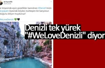 """Denizli tek yürek """"#WeLoveDenizli"""" diyor"""