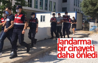 Jandarma bir cinayeti önledi!