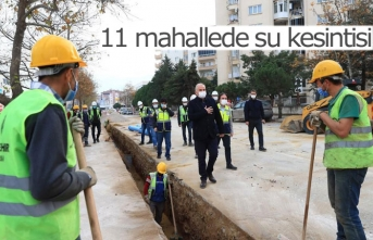 11 mahallede su kesintisi