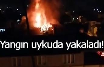 Yangına uykuda yakalandılar