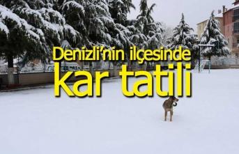 Denizli'nin ilçesinde 1 günlük kar tatili ilan edildi