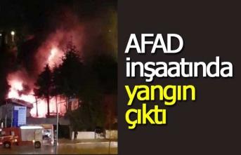 İnşaat yangını mahalleliyi korkuttu!