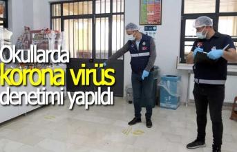 Okullarda korona virüs denetim, yapıldı
