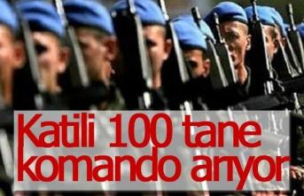 Katil zanlısını 100 komando ile arıyorlar