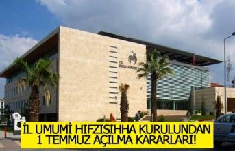 Denizli'de 1 Temmuz açılma programına ilişkin kararlar açıklandı