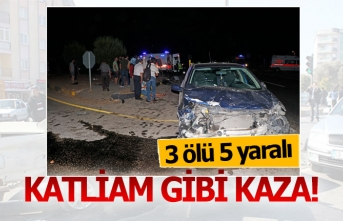 Katliam gibi kaza; 3 ölü 5 yaralı