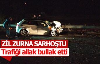 Zil zurna sarhoş sürücü trafiği allak bullak etti