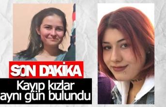 Kayıp kızlar aynı gün içinde bulundu