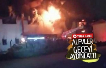 Fabrika alev alev yandı! (GÖRÜNTÜLÜ)