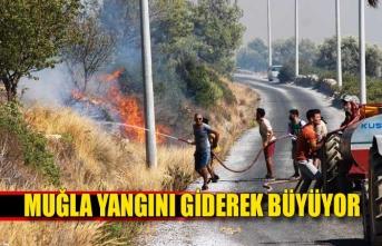 Yangın müdahalesinde vatandaş seferber oldu!