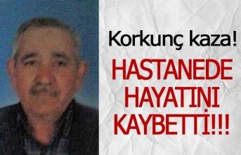 Yaşlı adam iş kazasında hayatını kaybetti