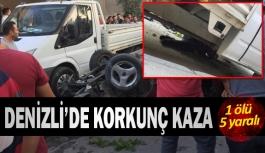 Denizli'de kavşakta korkunç kaza 1 ölü...