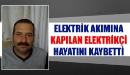 Elektrik akımına kapılan elektrikçi...