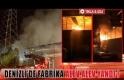 Denizli'de fabrika alev alev yandı!