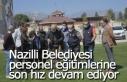 Nazilli Belediyesi basın personeline İHA eğitimi