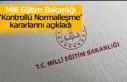 Milli Eğitim Bakanlığı 'Kontrollü Normalleşme'...