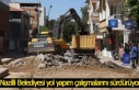 Nazilli Belediyesi yol yapım çalışmalarını sürdürüyor