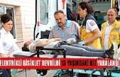 Elektrikli bisiklet devrildi 13 yaşındaki kız yaralandı