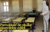 Pamukkale'de okullar dezenfekte edildi