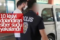 Siber dolandırıcı polis takibinden kaçamadı