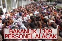 Bakanlık 1309 personel alacak
