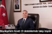 Büyükşehirin Kovid-19 desteklerinde talep büyük