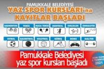 Pamukkale Belediyesi yaz spor kursları başladı