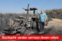 Başkan Zolan'dan traktörü yanan çiftçiye yeni traktör müjdesi