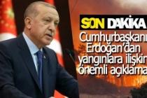 Cumhurbaşkanı Erdoğan'dan yangınlara ilişkin önemli açıklama
