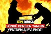 Denizli'de yangın yeniden başladı