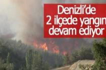 Denizli'de 2 ilçede yangın devam ediyor
