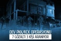 Dev PKK operasyonu; 7 gözaltı