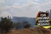 Uşak yangınına havadan müdahale ediliyor