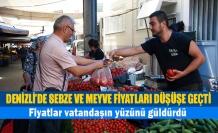 Denizli'de sebze ve meyve fiyatları düşüşe geçti