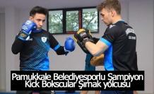 Pamukkale Belediyesporlu Şampiyon  Kick Bokscular Şırnak yolcusu