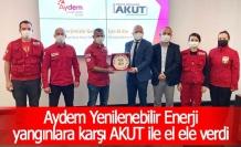 Aydem Yenilenebilir Enerji, yangınlara karşı AKUT ile el ele verdi