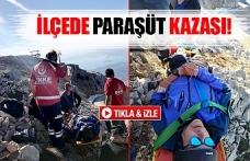 İlçede paraşüt kazası
