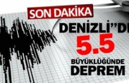 Denizli'de korkutan deprem