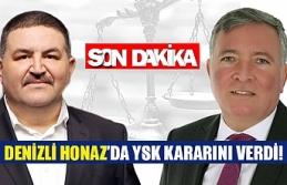 Denizli Honaz'da YSK kararını verdi!
