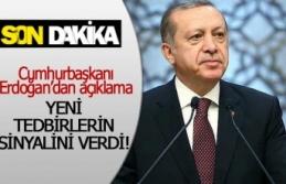 Cumhurbaşkanı Erdoğan, yeni tedbirlerin sinyalini...