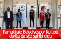 Pamukkale Belediyespor Kulübü dartta da söz sahibi...