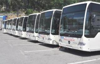 Metrobüsler Denizli;de trafiğe çıkmayı bekliyor