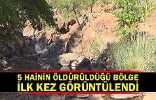 5 hainin öldürüldüğü bölge ilk kez görüntülendi