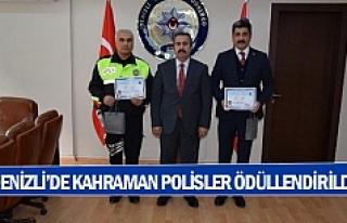 Denizli'de kahraman polisler ödüllendirildi