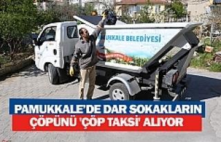 Pamukkale'de dar sokakların çöpünü 'çöp...
